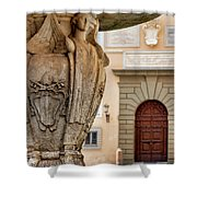Papal Coat Of Arms  Shower Curtain by Fabrizio Troiani