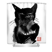 Papatenrond Shower Curtain