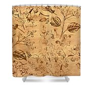 Paper Petal Patterns Shower Curtain