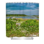 Paradise In Maine Shower Curtain