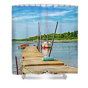 Paradise Sailing Day In Maine Shower Curtain