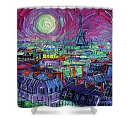 Paris By Moonlight Shower Curtain