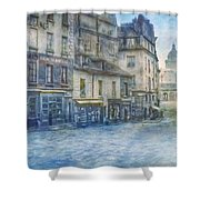 Paris, Rue Du Haut Pave 1866 Shower Curtain