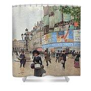 Paris, Rue Du Havre Circa 1882 Shower Curtain