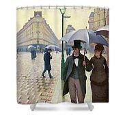 Paris Street In Rainy Weather - Digital Remastered Edition Shower Curtain