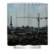 Paris Towers Shower Curtain by Juan Contreras