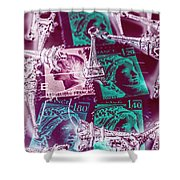 Parisian Postmarks Shower Curtain