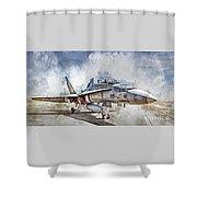 Parked Hornet Shower Curtain