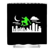 Parkour Shirt Parkour Urban Springer Gruen Gift Tee Shower Curtain