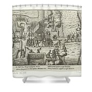 Parma Knighted In The Order Of The Golden Fleece, 1585, Anonymous, After Frans Hogenberg, 1613 - 161 Shower Curtain