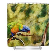 Parrot Paradise Shower Curtain