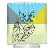 Party Owl Shower Curtain