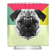 Party Pug Shower Curtain