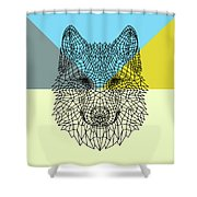 Party Wolf Shower Curtain