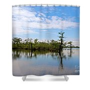 Pasquotank River North Carolina Shower Curtain