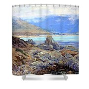 Path Along The Shore Shower Curtain