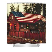 Patriotic Bar And Grill Shower Curtain