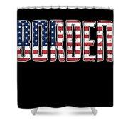 Patriotic Borden Flag Shower Curtain