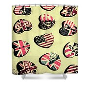 Patriotic Picks Shower Curtain