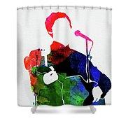 Paul Mccartney Watercolor Shower Curtain
