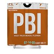 Pbi West Palm Beach Luggage Tag II Shower Curtain