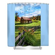 Peaceful Country Morning Shower Curtain