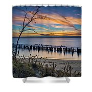 Peaceful Sunset At Sandy Hook Shower Curtain