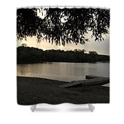 Peaceful Sunset At The Park Shower Curtain