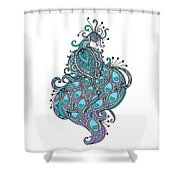 Peacock 1 Shower Curtain