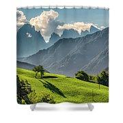 Peak And Meadow Shower Curtain by James Billings