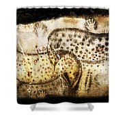 Pech Merle Horses And Hands Shower Curtain