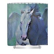 Pegasus Fantasy Shower Curtain