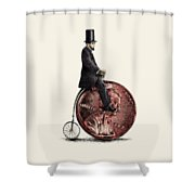 Penny Farthing Shower Curtain
