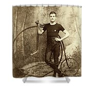 Penny Farthing - High Wheel - Ordinary   Shower Curtain