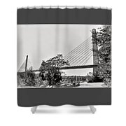 Penobscot Narrows Bridge And Observatory Shower Curtain