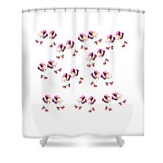 Peonies And Skate Shower Curtain