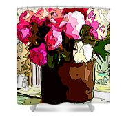Peonies Free Shower Curtain