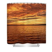 Percy Priest Lake Sunset Shower Curtain by D K Wall