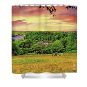 Petersham Landscape Shower Curtain