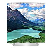 Peyto In August Shower Curtain