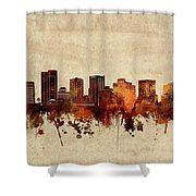 Phoenix Skyline Sepia Shower Curtain