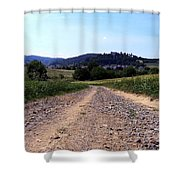 Photography Landscape Shot Of A Path Shower Curtain