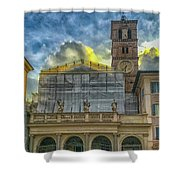 Piazza Di Santa Maria In Trastevere Shower Curtain