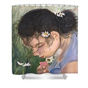 Picking Daisies Shower Curtain
