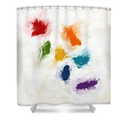 Piece Of The Rainbow- Art By Linda Woods Shower Curtain