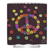 Pieces Of Peace Shower Curtain