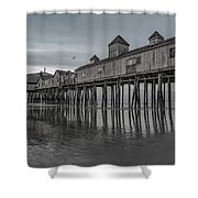 Pier At Dawn In Maine Shower Curtain