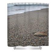 Pier Seashell Shower Curtain