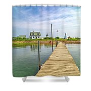 Pier View Goat Island Fantastic Scene Shower Curtain