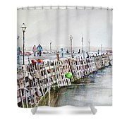 Piers To Be Cold Shower Curtain